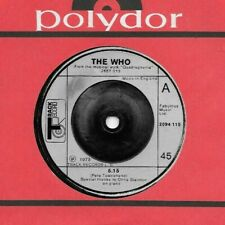 THE WHO * 45 * 5:15 / Water * 1973 * TRACK UK England * VG+/ VG++ Vinyl w/ mark