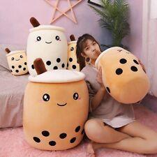 35-70cm cute cartoon Fruit bubble tea cup shaped pillow  suction tubes real-life