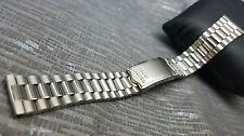 Reloj Pulsera 19mm Vintage Seiko De Acero Inoxidable Banda Correa