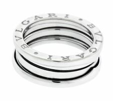 Auth BVLGARI 18k White Gold B-zero1 S 3-band Ring Size 50