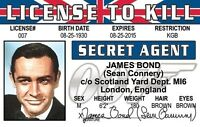 Sean Connery James Bond novelty plastic collectors card Drivers License to kill