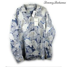 Tommy Bahama Versilia Palm Long Sleeve Shirt - Size L -100% Linen RRP $178 | New