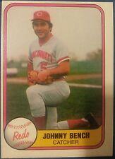 1981  JOHNNY BENCH - Fleer Baseball Card # 196 - Cincinnati Reds - Vintage
