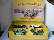 "Matchbox Yesteryear No: G-7 ""Veteran & Vintage Gift Set of 5 Vehicles"" (RARE)"