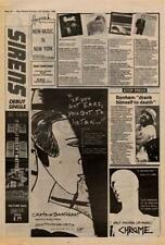 Captain Beefheart Doc At The Radar Station Tour Advert NME Cutting 1980