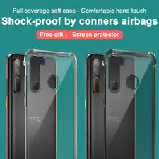 For HTC Desire 20 Pro IMAK Shockproof Clear Crystal Case Airbag Slim Soft Cover