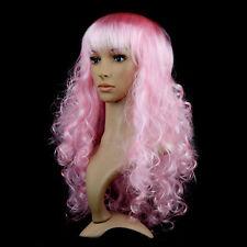 Women's Synthetic Hair Wig Long Wavy Curly Full Wigs Party Fancy Dress Cosplay