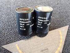 2x Kondensator 330uF 450V Epcos Capacitor Elko z.B. für Röhrenverstärker
