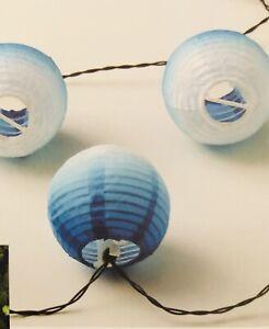 IKEA Solvinden Lichterkette rund blau 12 LED 104.845.68 Solarbetrieben  NEU OVP