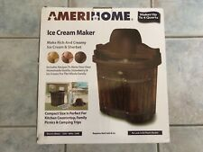 New In Box AmeriHome 4-quart Electric Ice Cream Maker 500135