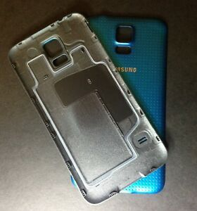 For Samsung Galaxy S5 I9600 G900F Blue Battery Back Rear Cover Case Door