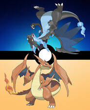 002 Pokemon Mega Charizard 2-PLAYERS CUSTOM DESIGNED PLAYMAT FREE SHIPPING