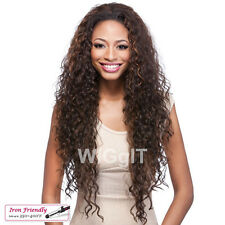 VANTAGE | HALF WIG | BLACK / BROWN / BLONDE | LONG CURLY SYNTHETIC | IT'S A WIG