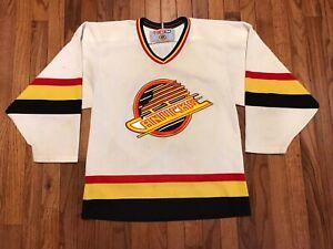 Vintage PAVEL BURE Vancouver Canucks 1996 CCM Throwback Home NHL Hockey Jersey M