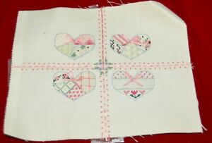 """Embroidered Completed Hearts 8x9.5"""" SPOT"""