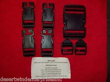 GENUINE NEW US MILITARY MOLLE II BACKPACK BUCKLE REPAIR KIT BAG - BLACK
