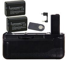 Vertical Battery Hand Grip IR Remote &2X NP-FW50 battery for Sony A6300 BG-3DIR