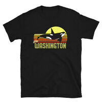 Washington Orca Killer Whale Puget Sound Marine Biologist Unisex T-Shirt