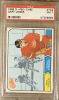 1968 OPC Gary Unger PSA 7 ROOKIE RC #142 Detroit Red Wings NM Near Mint