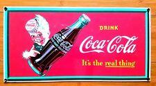 COCA COLA PORCELAIN SPRITE BOY BOTTLE COKE DISPLAY decor wall art pop soda cap