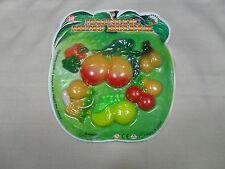 Set of 6 Magnetic Memo Holders/ Refrigerator Magnets Fruit & Vegetable Shape (#3