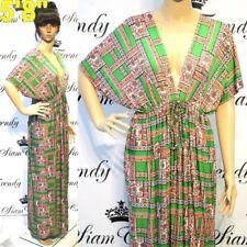 NWT L XL 2X NEW Womens Green Batwing Grecian Sexy VNeck Kaftan Party Plus Dress