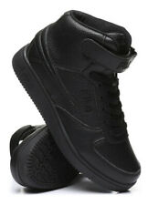 Fila A High Top Textile Leather Mens Shoes Sneakers Black Ankle Strap Size 8-13