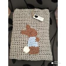 Hand crochet baby/toddler Peter Rabbit inspired blanket/carseat/pram/crib/gift