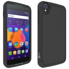 """For Alcatel One Touch Idol 3 (4.7"""") Black Case Protective Shock Absorbent Cover"""