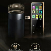 Bluetooth MP3 MP4 Player 4/8/16GB With FM Media Touch Key Sport Music Speakers Z