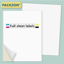 100 Shipping Labels Full Sheet 85x11 Self Adhesive Packzon