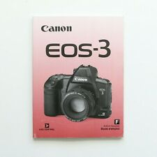 Canon EOS 3 35mm Film SLR Camera Instruction Manual