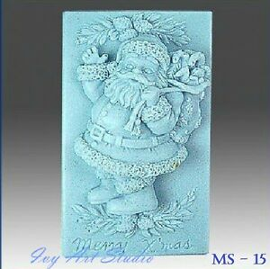 Silicone Soap Mold/Candle Mold/Mould One Cavity - Christmas Santa Claus