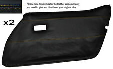 Jaune stitch 2x carte de porte avant pleine peau de cuir couvrir fits CORVETTE C3 78-82