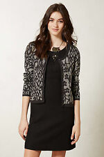 Leopard Glint Cardi Size S, Shimmering Cardigan Sweater Anthropologie
