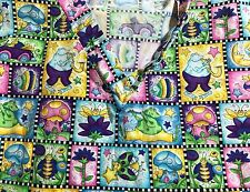 G.A.L.S. MEDICAL DENTAL CHRISTMAS SCRUB TOP SIZE Medium Frogs Lightning Bugs