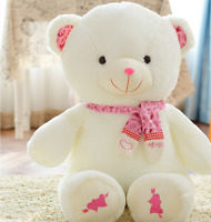 12''Pink Teddy Bear Cute Scarf Plush Stuffed Toys Animal Doll Kid Birthday Gifts