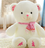 12''Pink Teddy Bear Cute Scarf Plush Stuffed Toys Animal Doll Kid Birthday Gifts