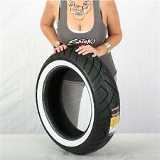 180/65-16 6 Ply Shinko 777 Heavy Duty White Wall Rear Tire