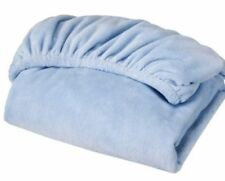 Circo Baby Blue Plush Chamois Fitted Crib Sheet Toddler New So Soft