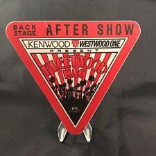 Fleetwood Mac After Show Concert Backstage Pass Satin Sticker Otto Vintage 1987