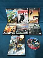 Lot of 8 PS2 games PlayStation 2 Frogger, Atv Top Gear Splinter Cell