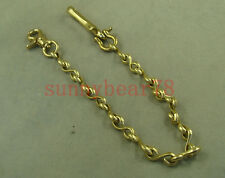Solid brass Collectable Vintage Golden Fob Pants Gold Key Wallet Chain with hook