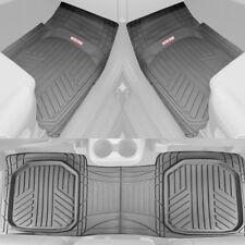 Waterproof TriFlex Rubber Floor Mats for Car Van SUVs Truck w/ Rear Liner - Gray