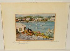 "CAROLE HOLDING ""HAMILTON HARBOR"" BERMUDA HAND SIGNED IN PENCIL LITHOGRAPH"