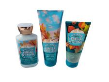 Bath & Body Works Whipped Vanilla Spice Body Lotion Cream Jelly Scrub (Set of 3)
