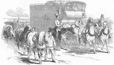 YORKS. Doncaster Races. Rd-Horse Van, antique print, 1849