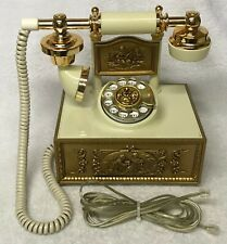 Vintage 1970s WESTERN ELECTRIC Ornate FRENCH Style Rotary Dial Desktop Telephone
