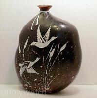 """ULTRARARE Murano SIGNED Licio ZANETTi Vase 13"""" Vtg Inciso CAMEO ArT Glass Italy"""