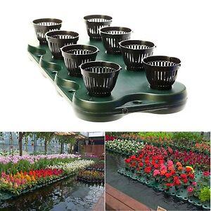 8Plugs /1pc Aquaponics Floating Pond Planter Basket- Hydroponic Island Gardens